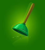 Plunger tool for sewage cleaning. Vector illustration Royalty Free Stock Image