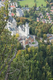 Plunging view over Neuschwanstein Castle Stock Image
