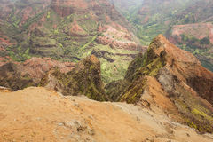 Plunging view into the Waimea Canyon Royalty Free Stock Image