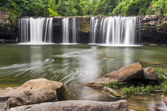 Plunging Whitewater at Ludlow Falls Royalty Free Stock Images