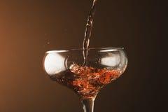 Pluśnięcia szampan Obrazy Stock