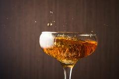 Pluśnięcia szampan Zdjęcie Stock