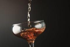Pluśnięcia szampan Obraz Stock
