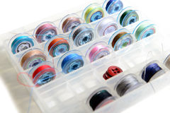 A plurality of thread bobbins for sewing machine Stock Photo