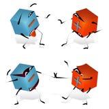 Plus Śmieszni Zabawkarscy Bloki i Minus ilustracji