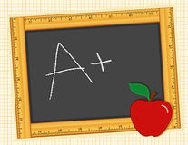 Chalkboard, A Plus! Apple for the Teacher royalty free illustration