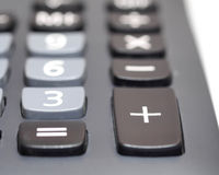 Plus button on calculator isolation on white Royalty Free Stock Images