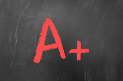 A plus. Concept on blackboard Stock Photo