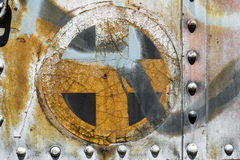 Plus cross add old metal background texture Royalty Free Stock Images