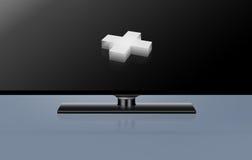 plus 3D à l'intérieur de la série moderne 442 de concept du large écran TV Photographie stock