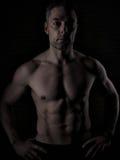 Plus d'homme 40 avec le grand corps Image libre de droits