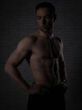 Plus d'homme 40 avec le grand corps Photographie stock libre de droits