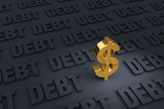 Plus de dette que l'argent illustration stock