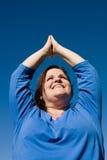 Plus de Met maat Yoga van de Geschiktheid stock foto