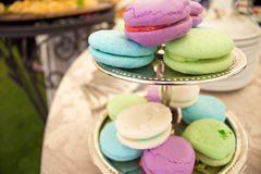 Plus de milkshake Macarons Image stock
