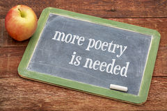 Plus de poésie est nécessaire Photos libres de droits