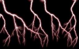Plus de pouvoir de cascade de foudre/d'horreur rouge Image stock