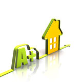 A plus energy and green house Royalty Free Stock Images