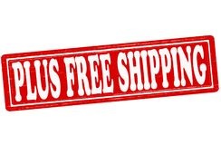 Plus free shipping. Stamp with text plus free shipping inside, illustration vector illustration