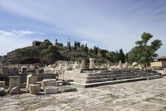 Plus grand Propylaia, Eleusis antique Photos stock
