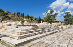 Plus grand Propylaia, Eleusis antique, Attique, Grèce Images libres de droits