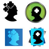 Plus of the human mind. Vector illustration. Head icon Stock Photo