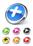 Plus icon Stock Photo