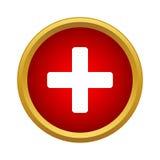 Plus icon, simple style Stock Photo