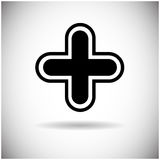 Plus Icon Web Cross Button Royalty Free Stock Images