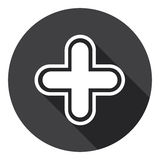 Plus Icon Web Cross Button Stock Photography