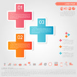 Plus infographic and business icon. Vector Royalty Free Stock Images