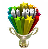 A plus Job Words Gold Trophy Top-Prestatiestoekenning stock illustratie