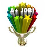 A plus Job Words Gold Trophy Top-Prestatiestoekenning Stock Fotografie