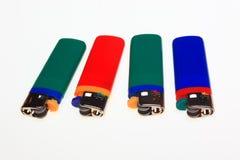 Plus léger, à sens unique, foyers au gaz de plastique Photographie stock
