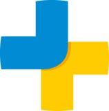 Plus logo Arkivfoton