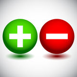 Plus and Minus Icons Stock Photography