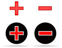 Plus and minus icons Stock Image