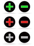 Plus and minus icons Stock Photos