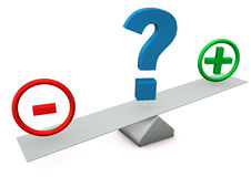Plus Minus Question Mark Stock Image