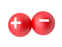 Plus and Minus Symbols. 3D Plus minus symbols on white background Royalty Free Stock Images