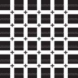 Plus noir sur la ligne de grille blanche noir blanc de plus de modèle Images stock