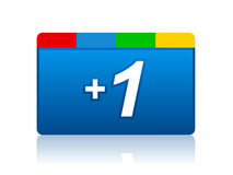 Plus one icon Stock Images