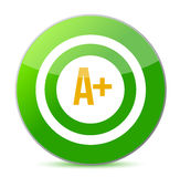 A plus rating target Stock Photo