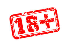 18 plus rubber stamp. Vector illustration Royalty Free Stock Image