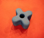 A plus shape of foam building block for education toy isolated o stock photography