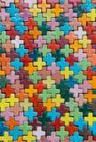 Plus shape pattern tile wall Stock Photo