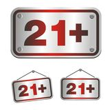 21 plus signs Stock Image