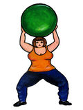 Plus Size Aerobics Ball Royalty Free Stock Image