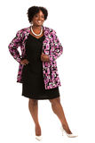 Plus Size Businesswoman Standing Isolated on White Royalty Free Stock Photo