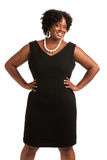 Plus Size Businesswoman Standing Isolated on White Stock Image